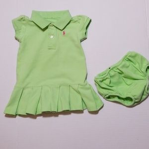 RALPH LAUREN INFANT TENNIS DRESS WITH B